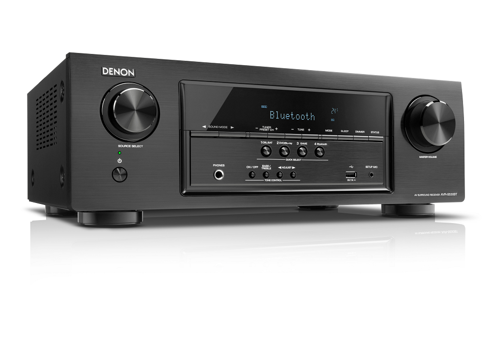 Receiver Denon AVR - S530BT 5.2Canais 140W por canal Bluetooth 4K Ultra Full HD S530