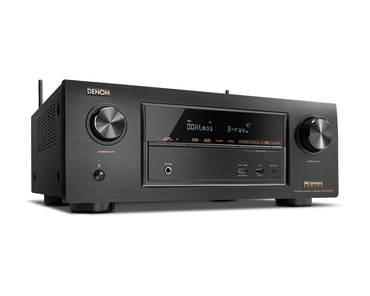Receiver Denon AVR - X3300W 7.2 Canais Full 4K Ultra HD Bluetooth Wifi